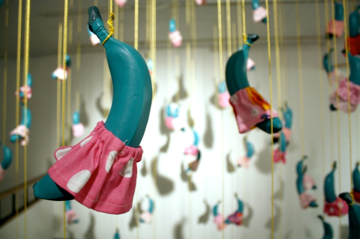 She-he Installation, 2010 ceramic fabric