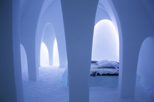 The Flying Buttress Art Suite at the 26th ICEHOTEL in Jukkasjärvi, 2015