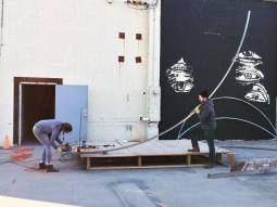 The making of Nomadic Landscape Installation at ArtStreet in Sacramento, 2017