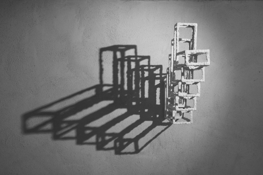 Descending Stair // Neon Temple Series, 2017 ceramic