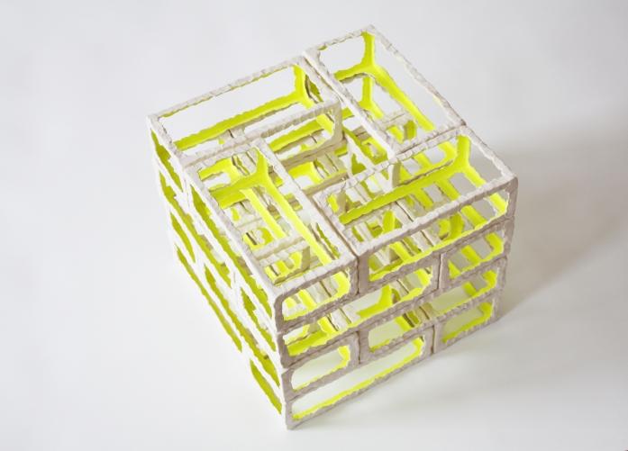 Plattenbau // Neon Temple Series, 2015 ceramic