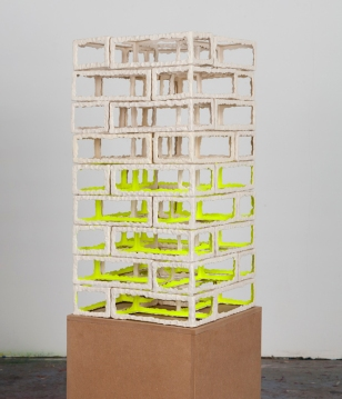 Neon Temple // Stacked, 2017 ceramic